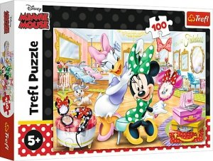 TREFL Puzzle 100 el. Myszka Minnie w salonie kosmetycznym (16387)