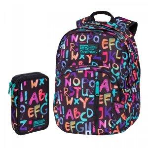 ZESTAW 2 el. Plecak CoolPack DISCOVERY 27 L alfabet, ALPHABET (C38236SET2CZ)