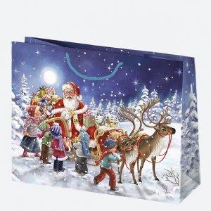 Torba torebka na prezent świąteczna MIKOŁAJ Maxi (T8_GW_24)