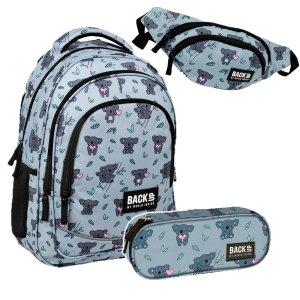 ZESTAW 3 el. Plecak szkolny młodzieżowy BackUP 26 L KOALA (PLB3X15SET3CZ)