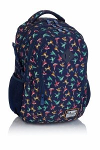 Plecak HASH w kolorowe ptaszki, KOLIBER HS-45 (502019041)
