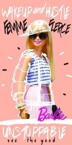 Ręcznik plażowy kąpielowy Barbie 70 x 140 cm (BARB203008)