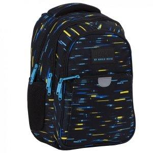 Plecak wczesnoszkolny BackUP 24 L kolorowe paski, CYBER (PLB4P45)