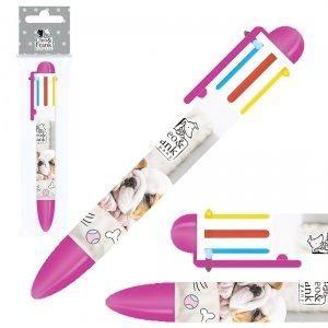 Długopis 6 kolorów CLEO & FRANK Pieski (D6KCF23)