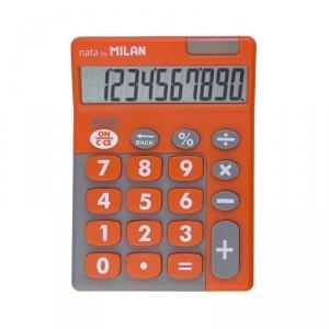 Kalkulator 10 pozycyjny Touch Duo pomarańczowy Milan (150610TDOBL)