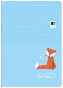 Zeszyt A5 w kratkę 32 kartek B&B FOX lisek (61298)