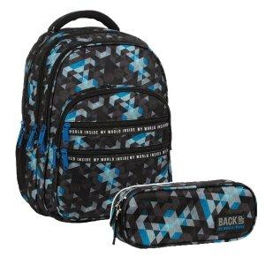 ZESTAW 2 el. Plecak szkolny młodzieżowy BackUP 28 L MOZAIKA (PLB3M53SET2CZ)