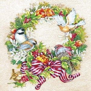 Serwetki świąteczne BOŻONARODZENIOWE Maki (SLGW021301)