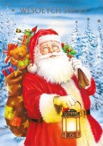 Kartka świąteczna BOŻE NARODZENIE 12 x 17 cm + koperta (28102)