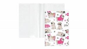 Etui okładka na książeczkę zdrowia dla zwierząt MOPSY (KZ-02-01)
