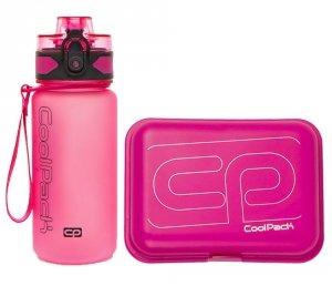 Zestaw bidon i śniadaniówka CoolPack BRISK MINI FROZEN pink (93521CP+95198)