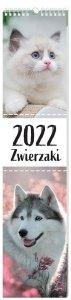 Kalendarz ścienny paskowy ZWIERZAKI 2022 13,5 x 60 cm (00157)