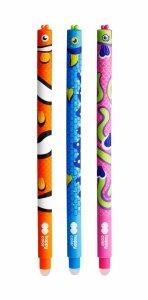 3x Długopis RYBKI RYBKA wymazywalny żelowy 0,5 mm Happy Color (50961)