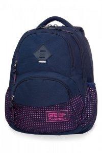Plecak CoolPack DART 2 granatowy w różowe kropki, DOTS PINK / NAVY (B30061)