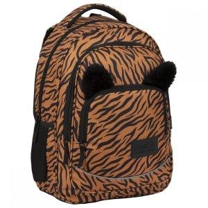 Plecak szkolny młodzieżowy BackUP 26 L TYGRYS z uszami (PLB3YA18)