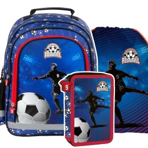 ZESTAW 3 el. Plecak szkolny FOOTBALL Piłka nożna (PL15BPI15SET3CZ)