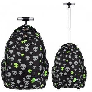 Plecak szkolny młodzieżowy na kółkach ST.RIGHT odblaskowy kosmici, REFLECTIVE ALIENS TB1 (25725)