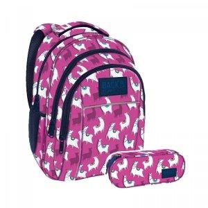 ZESTAW 2 el. Plecak szkolny młodzieżowy BackUP LAMA LAMY (PLB2H03SET2CZ)