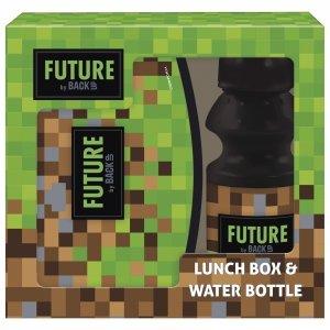 Zestaw bidon i śniadaniówka w kartoniku GAME dla fana gry MINECRAFT BackUP (ZSBDF24)