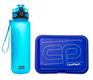 Zestaw bidon i śniadaniówka CoolPack BRISK FROZEN blue (93552CP+95266)