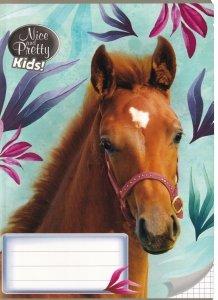 Zeszyt A5 w kratkę 32 kartek NICE AND PRETTY Konie HORSES mix (94630)