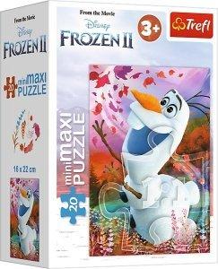 TREFL Puzzle miniMaxi 20 el. KRAINA LODU 2 FROZEN OLAF (21082)