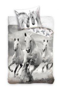 Pościel bawełniana HORSES Konie 140 x 200 cm komplet pościeli (NL202024)