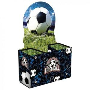 Biurkowy pojemnik na przybory szkolne FOOTBALL Piłka nożna (PPSPI16)