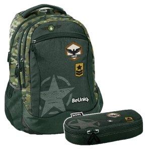 ZESTAW 2 el. Plecak szkolny młodzieżowy moro, ARMY Paso (PPAR20-2808SET2CZ)