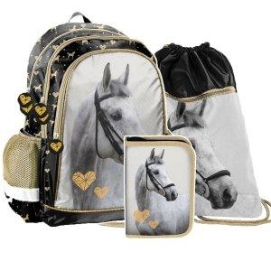 ZESTAW 3 el. Plecak szkolny HORSES Konie Paso (PP20H-081SET3CZ)