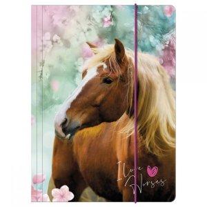 Teczka rysunkowa A4 z gumką I LOVE HORSES Konie (TGA4KO19)