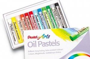 Pastele olejne szkolne 12 kolorów PENTEL (PEN12)