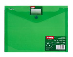 Teczka koperta na dokumenty A5 PATIO zielona (PAT3139/05)