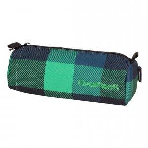 Piórnik CoolPack w granatowo - zieloną kratę TUBE OXFORD (60172)