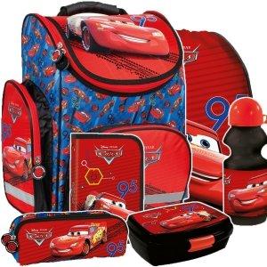 ZESTAW 6 el. Tornister szkolny ergonomiczny CARS Auta (TEMBCA46SET6CZ)