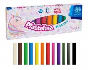 Plastelina 12 kolorów UNICORN Jednorożec ASTRA (303221007)