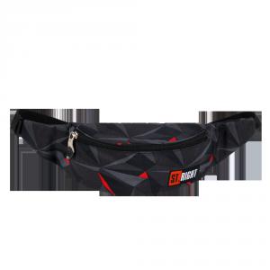 Saszetka na pas, nerka ST.RIGHT czarna abstrakcja 3D, 3D BLACK ABSTRACTION WB1 (26395)