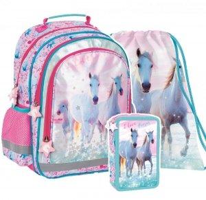 ZESTAW 3 el. Plecak szkolny I Love Horses KONIE (PL15BKO22SET3CZ)