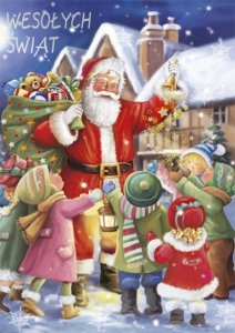 Kartka świąteczna BOŻE NARODZENIE 12 x 17 cm + koperta (41322)
