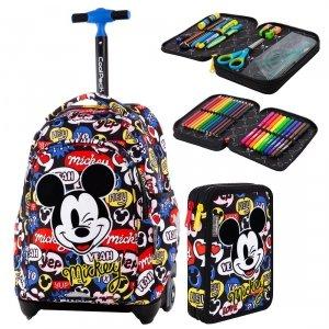 ZESTAW 2 el. Plecak CoolPack JACK na kółkach Myszka Mickey, MICKEY MOUSE (B53300SET2CZ)