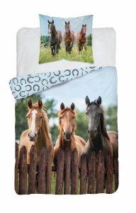 Pościel HORSES Konie Koń 160 x 200 cm komplet pościeli (3628A)