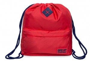 Plecak Sportowy Worek na sznurkach CoolPack URBAN czerwony z granatowymi dodatkami, RASPBERRY/COBALT (B1300)