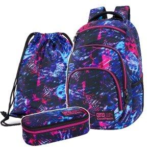 ZESTAW 3 el. Plecak CoolPack VANCE 20 L tropikalny sen, TROPICAL DREAM (C37146SET3CZ)