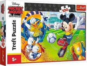 TREFL Puzzle 100 el. Myszka Mickey Miki na boisku (16353)