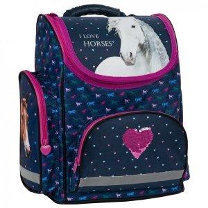 Tornister szkolny ergonomiczny I LOVE HORSES Konie (TEMBKO17)