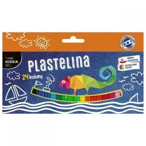 Plastelina mała 24 kolory KIDEA (PM24KKA)
