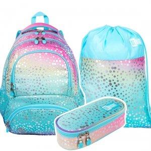 ZESTAW 3 el. Plecak szkolny młodzieżowy ST.RIGHT syrenka ombre, OMBRE MERMAID BP7 (38800SET3CZ)