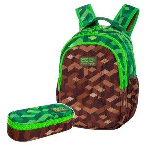 ZESTAW 2 el. Plecak wczesnoszkolny CoolPack JOY S 21L miejska dżungla, CITY JUNGLE (C48199SET2CZ)