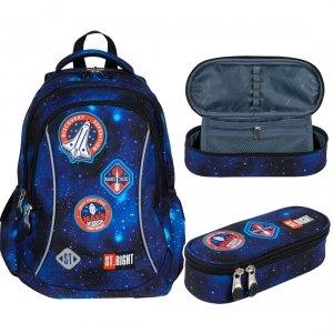 ZESTAW 2 el. Plecak wczesnoszkolny ST.RIGHT misja kosmiczna, COSMIC MISSION BP26 (27477SET2CZ)
