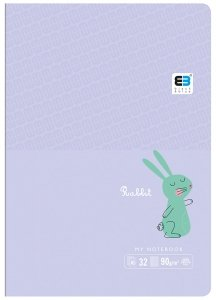 Zeszyt A5 w kratkę 16 kartek B&B RABBIT króliczek (55549)